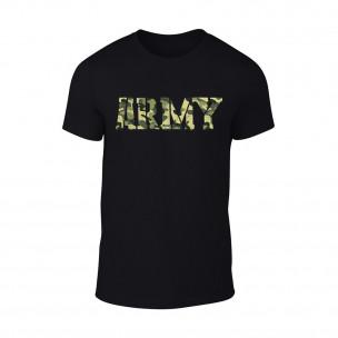 Κοντομάνικη μπλούζα Army μαύρο