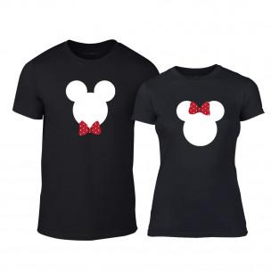 Μπλουζες για ζευγάρια Mickey & Minnie μαύρο