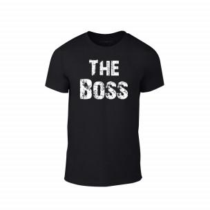 Κοντομάνικη μπλούζα The Boss μαύρο Χρώμα Μέγεθος L