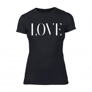 Γυναικεία Μπλούζα Love μαύρο