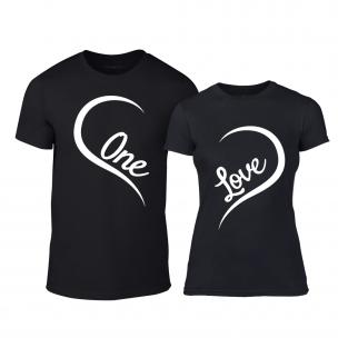 Μπλουζες για ζευγάρια One Love μαύρο