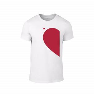 Κοντομάνικη μπλούζα Half Heart λευκό Χρώμα Μέγεθος S