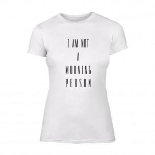 Γυναικεία Μπλούζα Morning Person λευκό