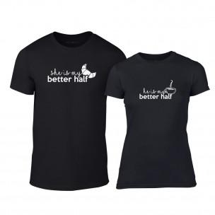 Μπλουζες για ζευγάρια My Better Half μαύρο
