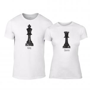 Μπλουζες για ζευγάρια Chess λευκό
