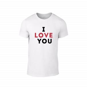 Κοντομάνικη μπλούζα I love you λευκό Χρώμα Μέγεθος M