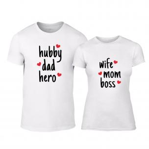 Μπλουζες για ζευγάρια Hero & Boss λευκό