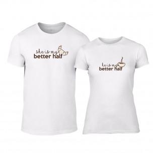 Μπλουζες για ζευγάρια My Better Half λευκό