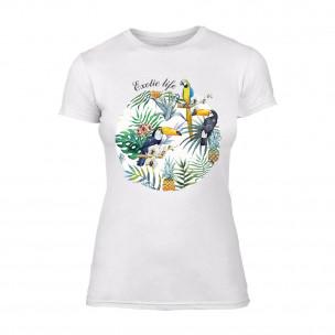 Γυναικεία Μπλούζα Exotic Life λευκό