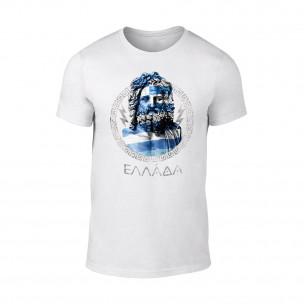 Κοντομάνικη μπλούζα Zeus λευκό