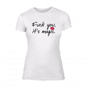 Γυναικεία Μπλούζα It's Magic λευκό