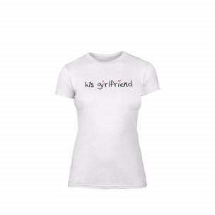 Γυναικεία Μπλούζα His girlfriend λευκό Χρώμα Μέγεθος L