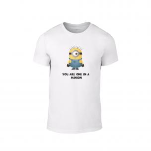 Κοντομάνικη μπλούζα One in a minion λευκό Χρώμα Μέγεθος M