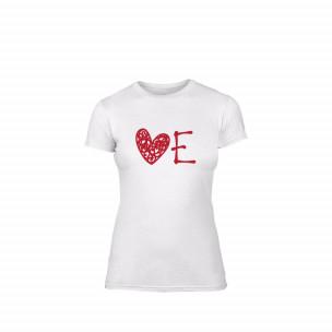 Γυναικεία Μπλούζα Love λευκό Χρώμα Μέγεθος S