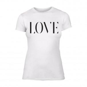 Γυναικεία Μπλούζα Love λευκό