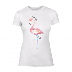 Γυναικεία Μπλούζα Flamingo λευκό