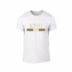 Κοντομάνικη μπλούζα Fashion King Queen λευκό Χρώμα Μέγεθος L