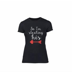 Γυναικεία Μπλούζα Stolen Hearts μαύρο Χρώμα Μέγεθος S