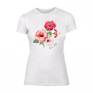 Γυναικεία Μπλούζα Flowers λευκό