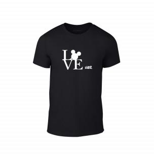 Κοντομάνικη μπλούζα Love Her μαύρο Χρώμα Μέγεθος S