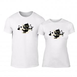 Μπλουζες για ζευγάρια Love Always Wins λευκό