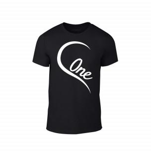 Κοντομάνικη μπλούζα One Love μαύρο Χρώμα Μέγεθος XL