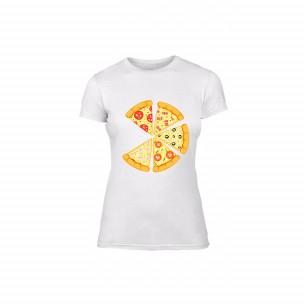 Γυναικεία Μπλούζα Pizza λευκό Χρώμα Μέγεθος M