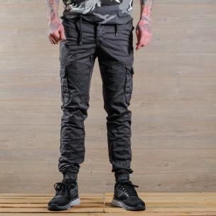 Ανδρικό γκρι παντελόνι cargo Blackzi 2