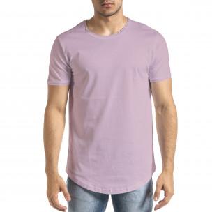 Ανδρική μωβ κοντομάνικη μπλούζα Clang Clang