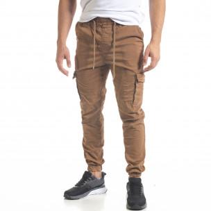 Ανδρικό παντελόνι Cargo Jogger σε χρώμα camel