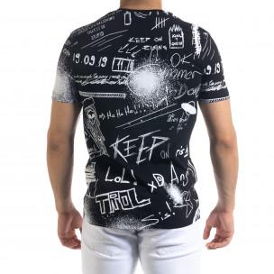 Ανδρική μαύρη κοντομάνικη μπλούζα Breezy 2