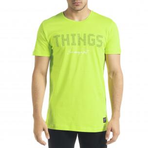 Ανδρική πράσινη κοντομάνικη μπλούζα Clang