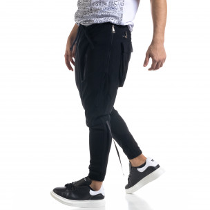 Ανδρικό μαύρο παντελόνι Open 2