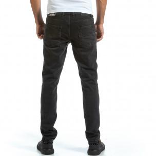 Ανδρικό μαύρο τζιν Basic Long Slim 2