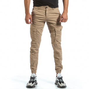 Ανδρικό μπεζ παντελόνι cargo Blackzi Blackzi