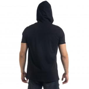 Ανδρική μαύρη κοντομάνικη μπλούζα RNT23 2