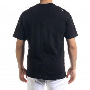 Ανδρική μαύρη κοντομάνικη μπλούζα SAW 2