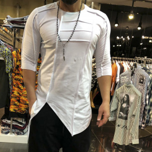 Ανδρική λευκή κοντομάνικη μπλούζα Open