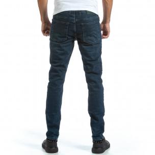 Ανδρικό μπλε τζιν Basic Long Slim Blackzi 2