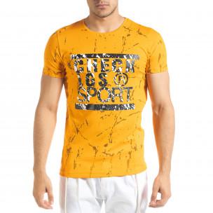 Ανδρική πορτοκαλιά κοντομάνικη μπλούζα Lagos