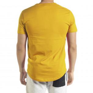 Ανδρική κίτρινη κοντομάνικη μπλούζα Clang Clang 2