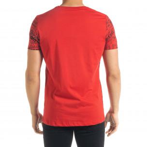 Ανδρική κόκκινη κοντομάνικη μπλούζα Lagos  2