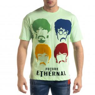Ανδρική πράσινη κοντομάνικη μπλούζα SAW