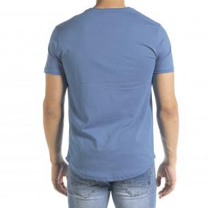 Ανδρική γαλάζια κοντομάνικη μπλούζα Clang 2