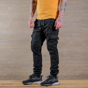Ανδρικό μαύρο παντελόνι cargo Blackzi 2