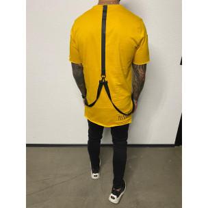 Ανδρική κίτρινη κοντομάνικη μπλούζα Black Island 2