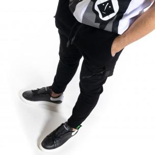 Ανδρικό μαύρο παντελόνι cargo Breezy 2