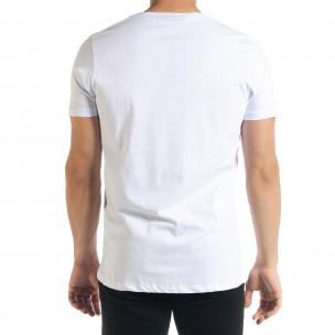 Ανδρική λευκή κοντομάνικη μπλούζα Panda 2