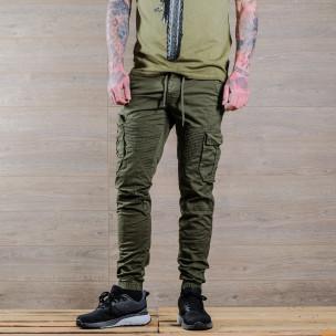 Ανδρικό πράσινο παντελόνι cargo Blackzi 2