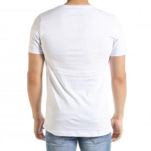 Ανδρική λευκή κοντομάνικη μπλούζα Clang 2